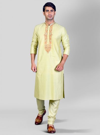 Light Green Kurta Set | Azania