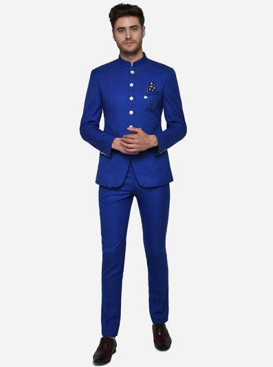 Royal Blue Jodhpuri Suit | JadeBlue