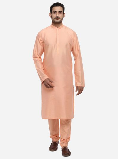 Light Peach Kurta Set | Azania