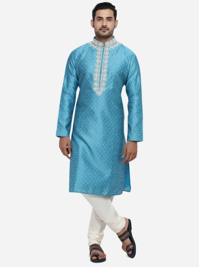 Pool Blue Kurta Set | Azania