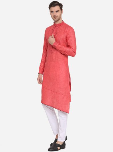 Carrot Red Kurta | Azania