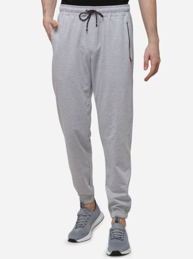 Grey Regular Fit Solid Track Pants | JadeBlue
