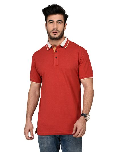 Red Slim Fit Polo T-shirt | JB Sport