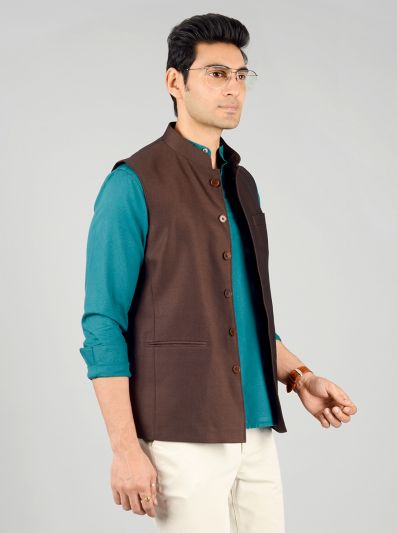 Brick Brown Modi Jacket | JadeBlue