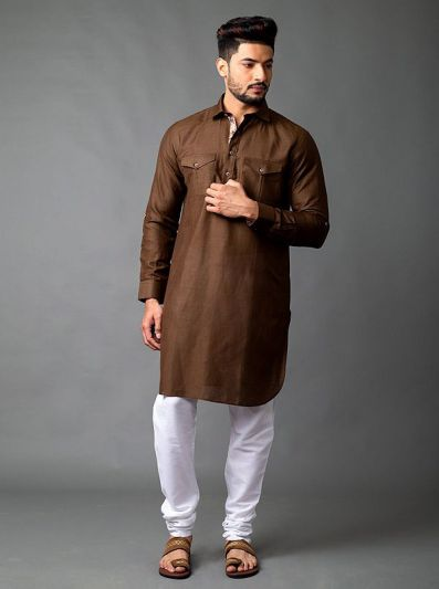 Coffee Brown Pathani Kurta