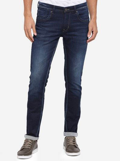 Indigo Blue Washed Narrow Fit Jeans | Greenfibre