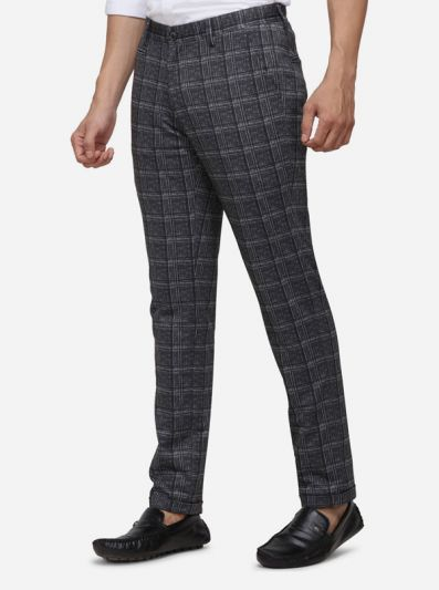 Dark Grey Printed Venice Fit Casual Trouser | JadeBlue Sport