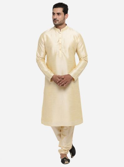 Light Golden Kurta Set | Azania