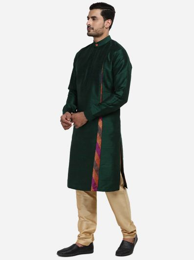Bottle Green Kurta Set | Siddhesh Chauhan