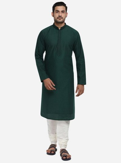 Bottle Green Kurta Set | TULA by Siddhesh Chauhan
