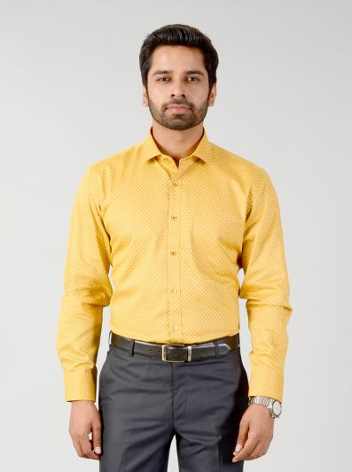 Butterscotch Printed Regular Fit Formal Shirt | Greenfibre