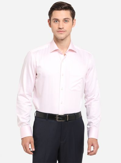 Pink Solid Slim Fit Formal Shirt | JadeBlue