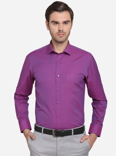 Orchid Pink Dobby Regular Fit Formal Shirt  | Greenfibre