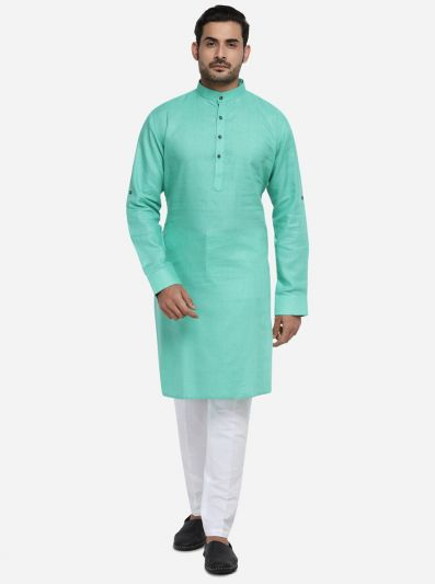 Aqua Green Kurta Set | Azania