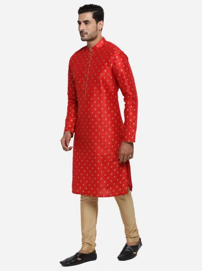 Crimson Red Kurta Set | Azania