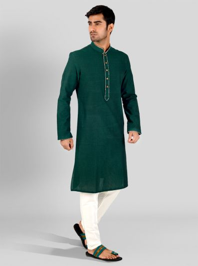 Dark Green Kurta | Azania